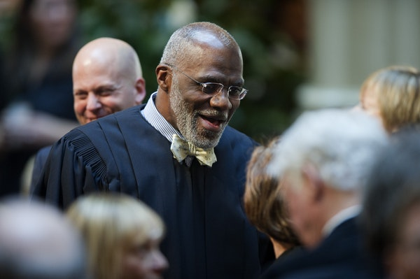 Retiring Minnesota Supreme Court Justice Alan Page, a former Vikings defensive tackle, was a popular choice among Twitter responses for the team's #Fr