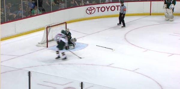 Wild's Alex Tuch scores dazzling shootout goal, high steps to celebrate