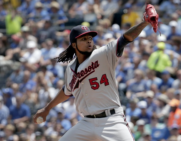 Ervin Santana pitched his first game for the Twins Sunday following an 80-game steroid suspension. He gave up three hits over eight innings but was st