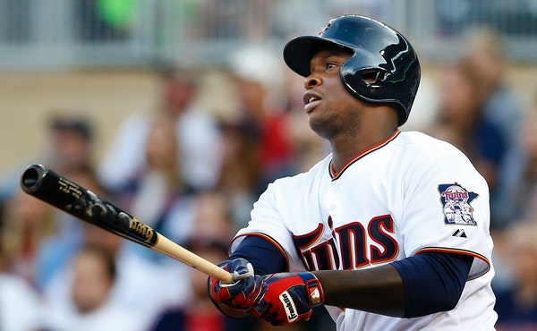Miguel Sano connected for his first major league home run, a two-run shot in the first inning estimated at 396 feet.