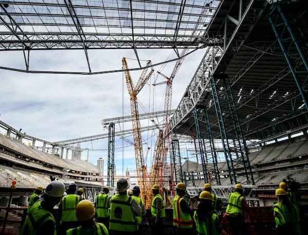 The innovative roof at U.S. Bank Stadium will be made of ethylene tetrafluoroethylene, a self-cleaning, fluorine-based plastic.