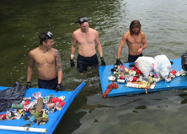 Volunteers who dove into Lake Minnetonka near Big Island earlier this month picked up loads of trash. The problem is growing on the popular lake.