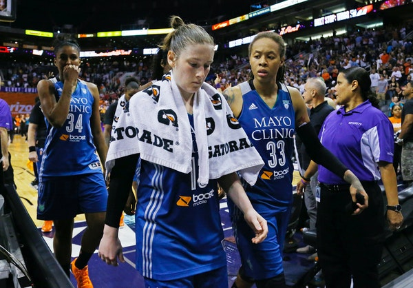 Lindsay Whalen and Seimone Augustus are both out with injuries..