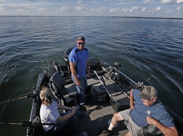 Fishing guide Tim Ajax took Suzy Anderson and George Nitti for a quick trip on Lake Mille Lacs on Tuesday. The Minnesota Department of Natural Resourc