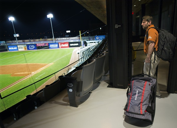 Sean Aronson — after his day of everything from crisis management to broadcasting — left CHS Field with the St. Paul Saints on a nine-game road tr