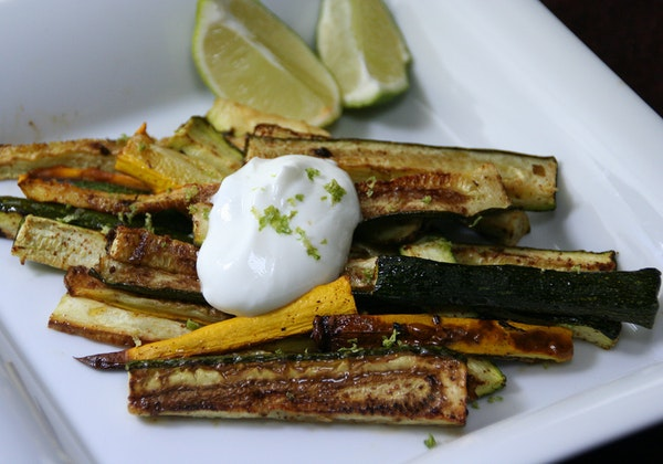 Oven-Seared Zucchini With Chipotle and Lime