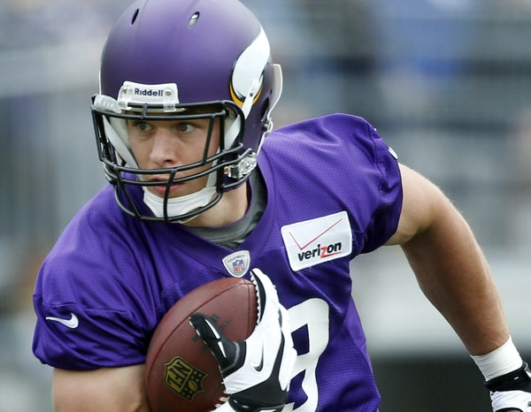 Former Vikings tight end John Carlson retired in May, just before his 31st birthday, to spend more time with family.