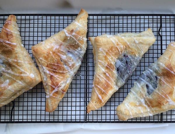 Recipe: Blueberry Turnovers, Raspberry Smoothies