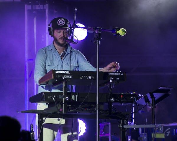 Bon Iver front man Justin Vernon performed Saturday night. ] Aaron Lavinsky • aaron.lavinsky@startribune.com The Eaux Claires Music & Art Festival w