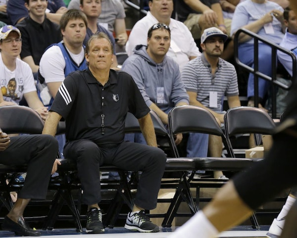Minnesota Timberwolves head coach Flip Saunders watches his team during an NBA basketball scrimmage in Minneapolis, Wednesday, July 8, 2015.