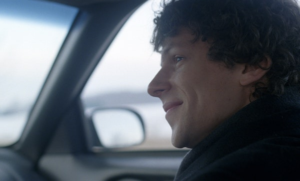 """Eisenberg, as David Lipsky, in """"The End of the Tour."""""""