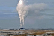 In this Jan. 30, 2008, file photo, steam rises from the Milton Young Power Plant near Center, N.D.