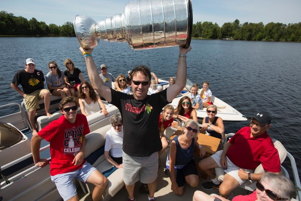 Stanley Cup hoisted in Minnesota