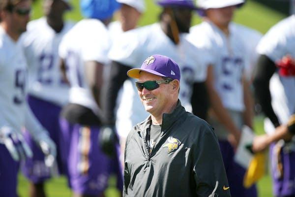 Vikings coach Mike Zimmer.