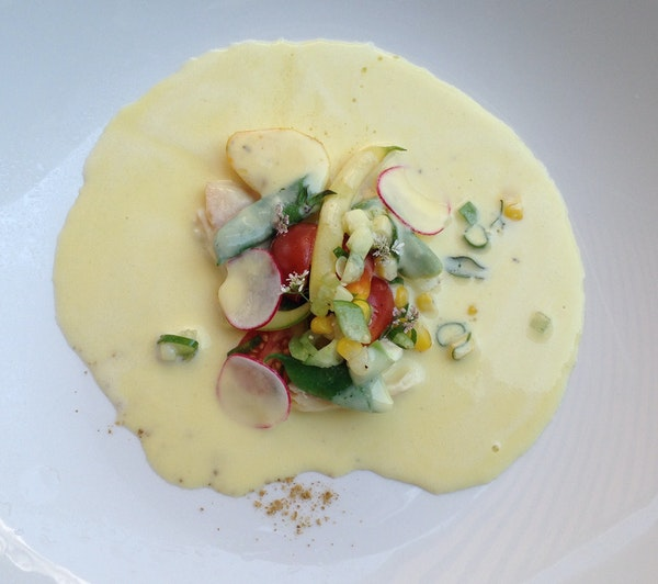 It was the smoked trout that put Joe Rolle's version of corn soup over the top.