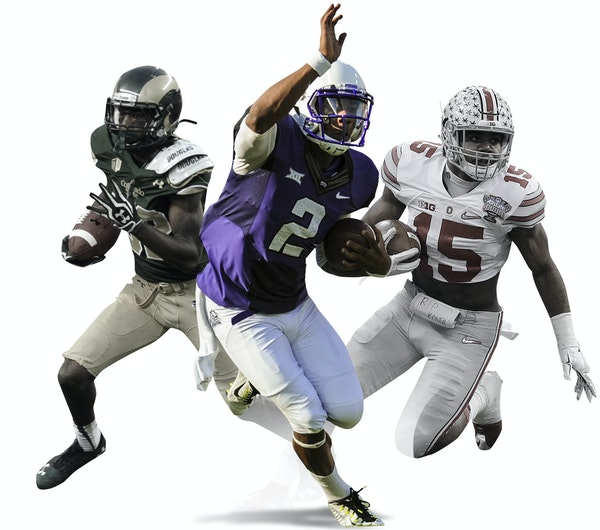 The Gophers football team will face three tough opponents (from left to right) in Colorado State (Sept. 12), No. 2-ranked TCU (Sept. 3) and top-ranked