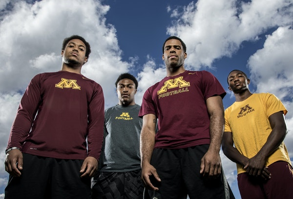 Left to right:Antonio Johnson, Damarius Travis, Briean Boddy-Calhoun and Eric Murray.