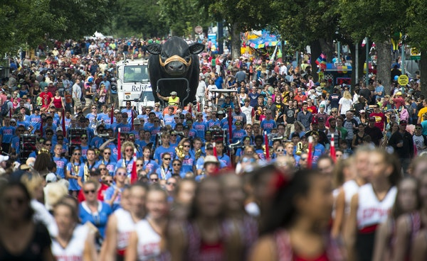 Thousands filled Underwood Street for the Minnesota State Fair daily parade.