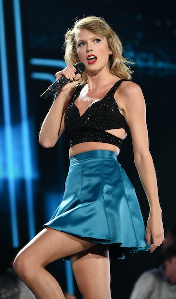 """Taylor Swift performs during her """"1989"""" world tour at MetLife Stadium in East Rutherford, N.J."""