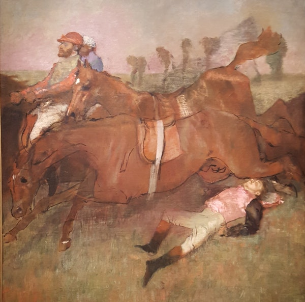 """Edgar Degas spent years trying to perfect """"Scene from the Steeplechase: The Fallen Jockey."""""""
