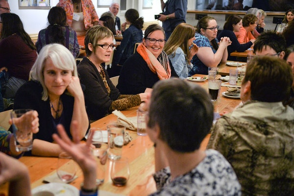 Guests hang out at Birchwood Cafe in south Minneapolis.