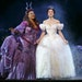 """Kecia Lewis as Marie (the Fairy Godmother) and Paige Faure as Ella in William Ivey Long-designed costumes for Rodgers and Hammerstein's """"Cinderell"""