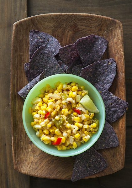 Hot and Tangy Corn Relish