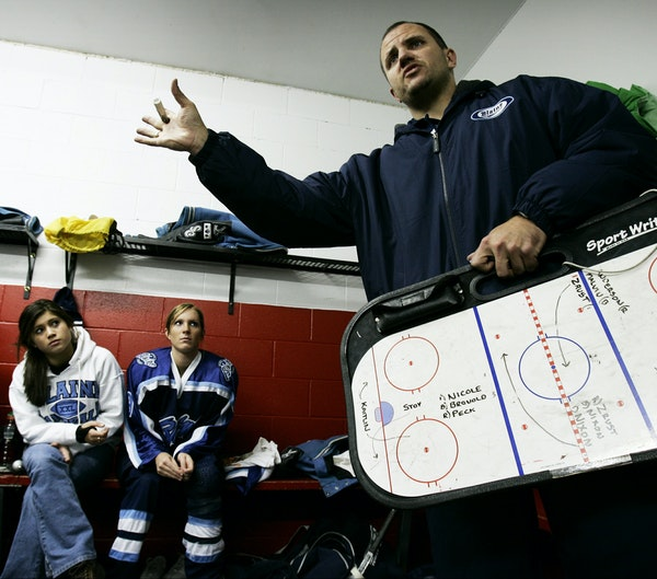 Blaine varsity girls' hockey coach Steve Guider is among coaches in the Anoka-Hennepin School District who have been impacted by the district's de