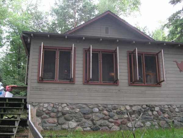This cabin in the Wisconsin North Woods near St. Germain was brought into the family when members pooled $9,000 to buy it.