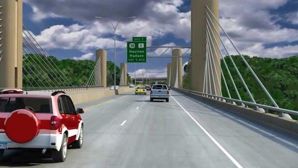 A rendering of the St. Croix River Bridge.
