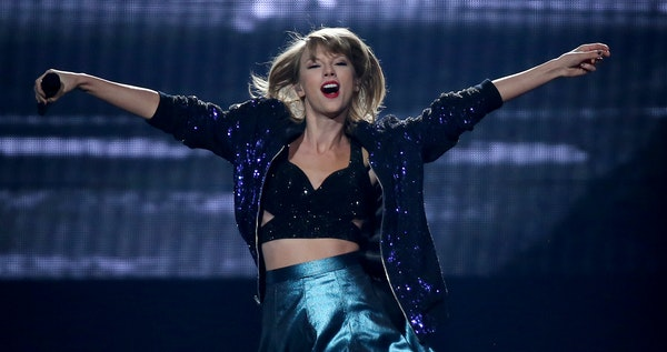 Taylor Swift performed at the Xcel Energy Center on Friday, her first of three performances this weekend.