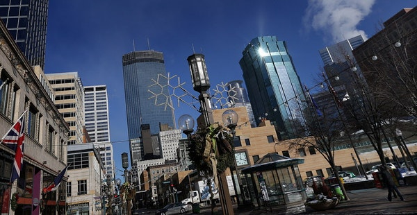 Minneapolis, above, and St. Paul boast many Fortune 500 headquarters and thriving organizations.