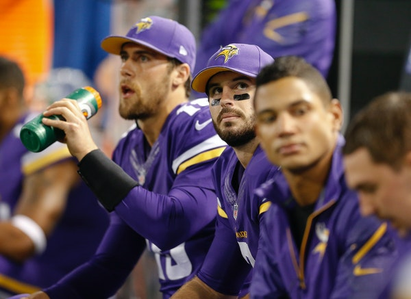 Three leaguewide transactions leapt off the page on Saturday to unite in a sad summarization of the Vikings' quarterback situation only 20 months ag