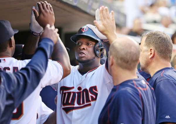 Minnesota Twins designated hitter Miguel Sano continued his tear on Tuesday by collecting three hits, including his 14th home run in the Twins' 8-6