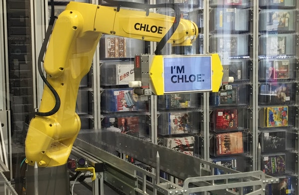 Chloe is the name of the arm within the kiosk at the Manhattan Best Buy where the company is testing out its abilities and customers' reaction to it.