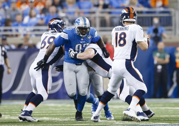 """After giving up seven sacks in the first two weeks of the season, the Broncos offensive line surrendered only one against Detroit in Week 3. """"We got"""