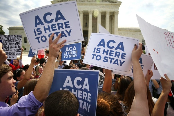 Supporters of the Affordable Care Act rallied outside the U.S. Supreme Court in June on the day the court ruled that the law may provide nationwide ta