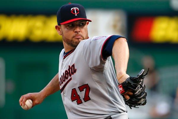 Twins pitcher Ricky Nolasco.