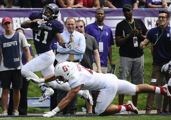 Sophomore running back Justin Jackson has been Northwestern's workhorse, averaging 29.5 carries and 129 yards per game.