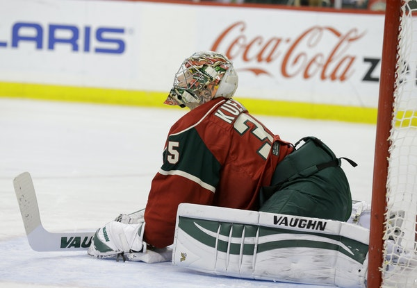 The Wild's Darcy Kuemper hasn't started an NHL game since Jan. 6. And, with the Wild in playoff contention, it's unlikely he will without a few