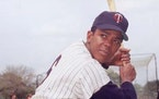 circa 1965: Portrait of Minnesota Twins outfielder Tony Oliva posing in a batting stance, wearing his uniform, 1960s. (Photo by Photo File/Getty Image