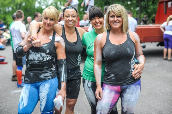 The author, second from right, is pictured with a group of friends she met at her Twin Cities gym.