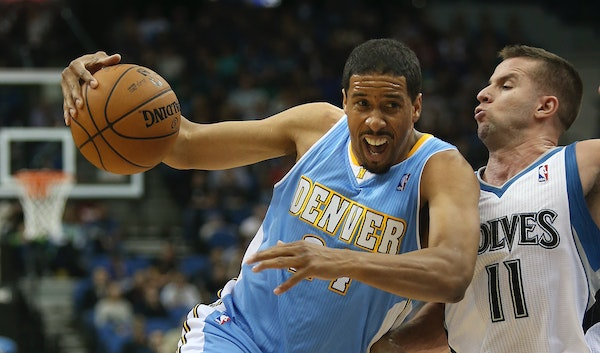Andre Miller, seen here playing against the Wolves in 2012, is the NBA's oldest player and this year joined Minnesota.