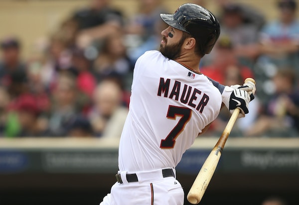 Joe Mauer played 158 of 162 games this season, but he had career lows in average (.265) and on-base percentage (.338).