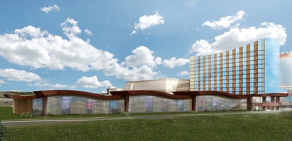 A rendering of Mystic Lake's planned second hotel and convention center.