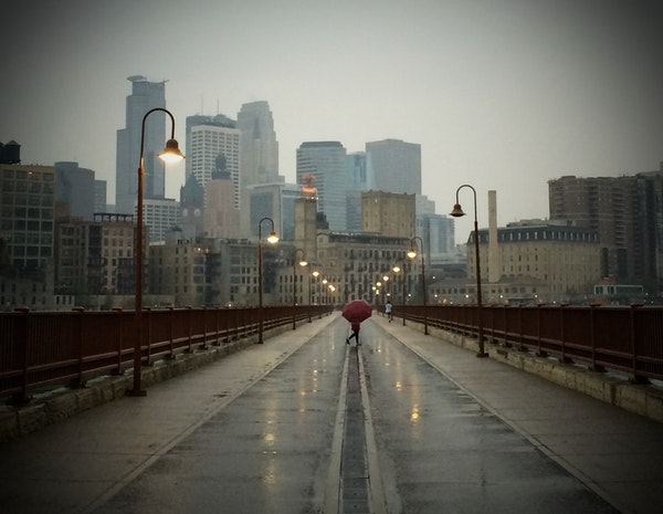Minneapolis, seen from the Stone Arch Bridge, has stepped up initiatives for older people.