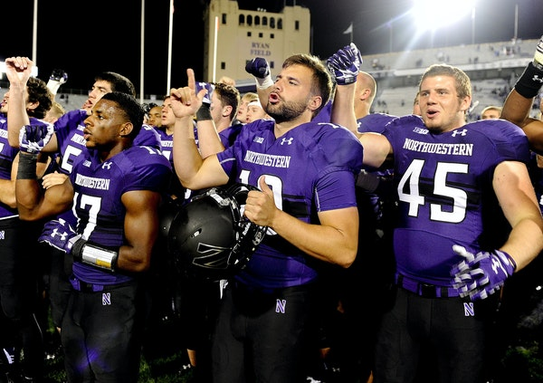 At 4-0, they're celebrating weekly at Northwestern.