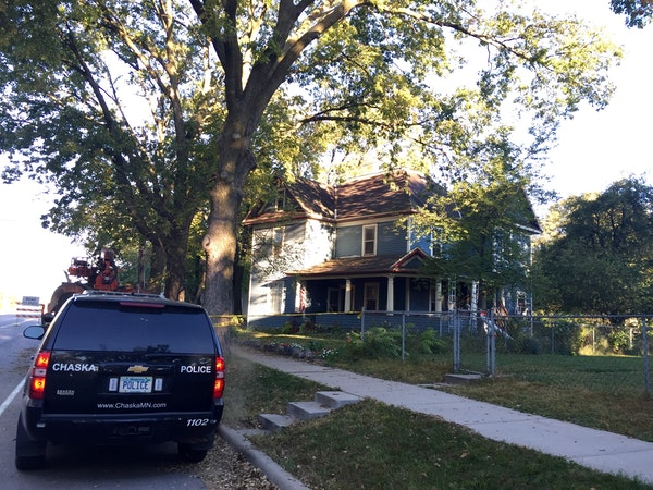 The home where authorities are investigating the shooting of two people who were critically wounded Thursday night in Carver County.