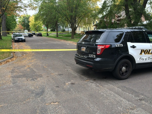 Police investigate after a shooting in St. Paul.