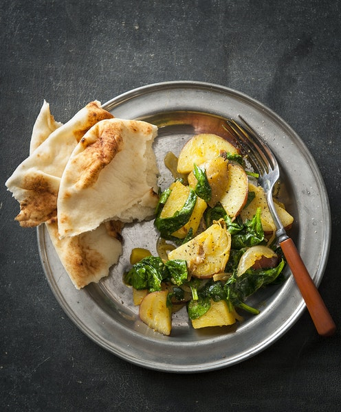 Indian-Inspired Spinach and Potatoes